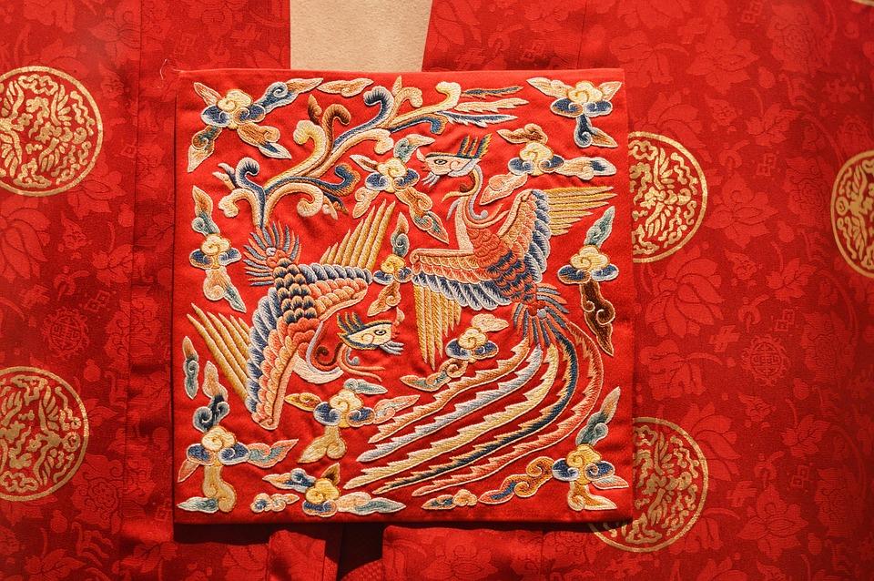 decorazione per abito tradizionale coreano