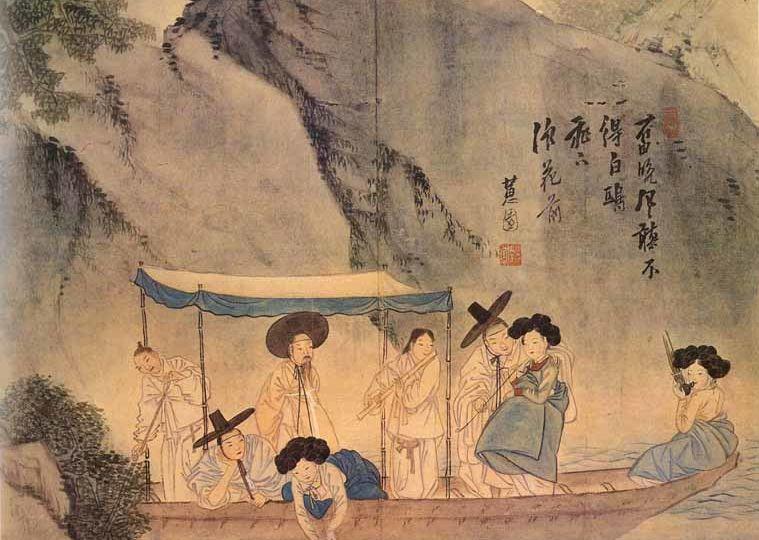 pittura tradizionale coreana Joyucheong