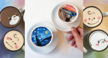 Cappuccino d'artista in Corea del Sud