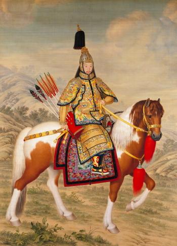 Ritratto del primo imperatore cinese cavallo