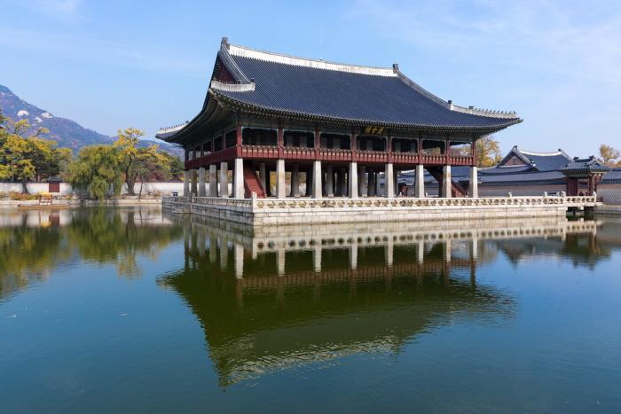 padiglione Gyeonghoeru del palazzo Gyeongbokgung