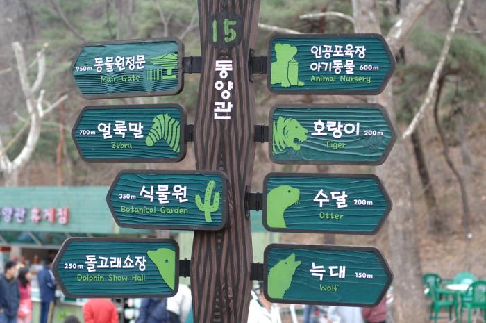 cartelli informativi nello zoo