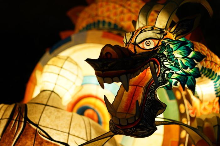 Esempio di lanterna costruita per il Lotus Lantern Festival