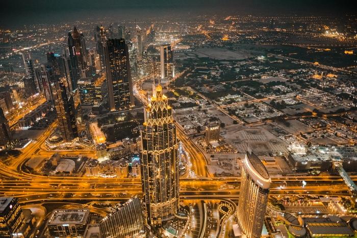 Dubai di notte, meta turistica