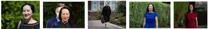 Meng Wanshou libera - la signora Huawei